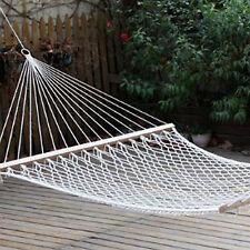 Amaca per esterni a rete con filo in tessuto diametro 3 mm e assi in legno