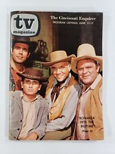VINTAGE 1961 TV MAGAZINE CINCINNATI ENQUIRER BONANZA MICHAEL LANDON COVER
