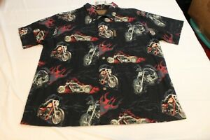NORTH RIVER OUTFITTERS CUSTOM MOTORCYLE BUTTON UP SHIRT  SIZE XL NWT