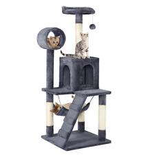 New listing 51'' Cat Tree Condo Multilevel Cat Towers Dark Gray