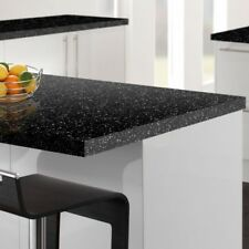 Strass Noir Square Edge Kitchen Worktop Laminate 3 Metre X 600 X 40mm.