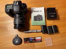 Canon EOS 7D 18.0MP Digital SLR Camera, 3 Lens, 3 CF Cards, 3 Batteries