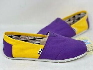 NEW! Toms Men's Classics East Carolina University Canvas Shoes Purple/Gold W65 z