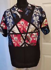 NEW ASOS Women's Geometric Pattern Blouse - 12