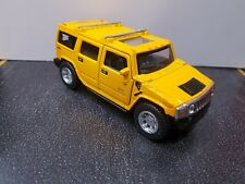 2008 Hummer H2 SUV yellow kinsmart Toy Car model 1/40 scale diecast metal new