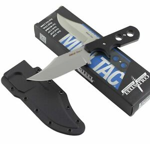 Cold Steel Mini Tac Bowie Fixed Blade Knife Neck Sheath Black Handle
