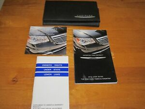 2012 CHRYSLER TOWN AND COUNTRY OWNERS MANUAL OEM w/ supplemental books and case