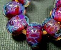 5FISH ~ Handmade Lampwork Boro Spacer Beads ~ Magical