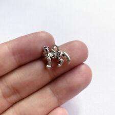 10pcs 12x15mm Fox Charms antique silver tone Pendant Making new