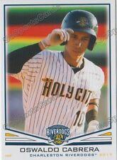2017 Charleston RiverDogs Oswaldo Cabrera RC Rookie NY Yankees VZ