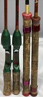(4) Vintage Fishing Poles Conolon Live Fiber / Heddon Pal / Actionrod Cork Grips