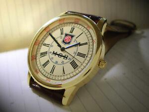MG MGB Roadster Souvenir Tribute Wrist Watch Retro 1960-70's Vintage Round Dial.