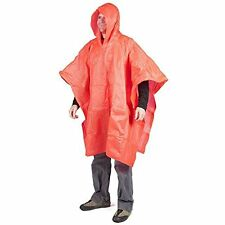 10 mil Emergency Rain Poncho Safety Orange # 00401