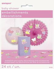 Baby Shower Party Embellishments Decorations Baby Girl Pink Pack of 24