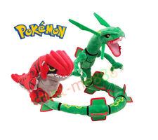 2Pcs Pokemon Center Rayquaza Groudon Plush Pokedoll Toy New Year Gift Xmas