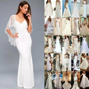 Womens Dresses Party Evening Wedding Maxi Long Dresses Slit Backless Ball Gown