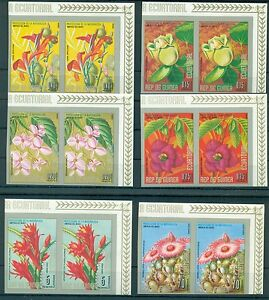 EQUATORIAL GUINEA*1974* set 6X2 stamps IMPERFECT *MNH** Flowers -Mi.No A422-427