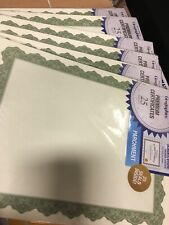6 PACKS OF 25 (150 CERTIFICATES) GEOGRAPHICS CERTIFICATES GREEN 8-1/2 X 12