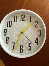 "Mainstays Patterned 11.5"" wall clock with Aa battery Grey, white, yellow, black"
