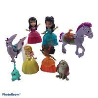 Disney Sofia the First Princess Figures Dolls Clover Crackle horses Lot Of 9