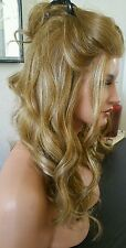 Beautiful Body Wave Blonde Mix Fully Hantied Lace Wig  Heat Safe