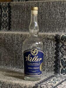 Weller Full Proof Bourbon Bottle with Cork (empty)
