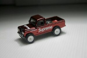 Hot Wheels Land Rover Series III Pickup Spectra Red Custom