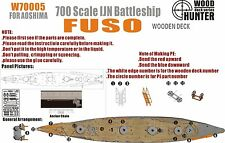 Hunter 1/700 W70005 Wood deck IJN Fuso for Aoshima