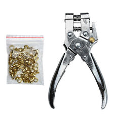 Heavy duty leather fabric eyelet plier hole punch pliers tools+100 eyelets K6L3