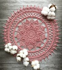 3D Hand crocheted lace doily cotton handmade # 140920