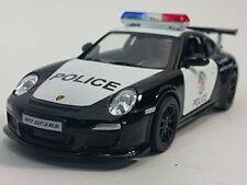 "New 5"" Kinsmart Diecast Porsche 911 GT3 RS Police Car Diecast Model Toy 1:36 cop"