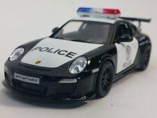 "New 5"" Kinsmart Diecast Porsche 911 Gt3 Rs Police Car Diecast Model Toy 1:36 cop"