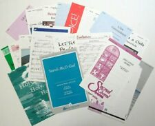 Lot of 24 Sheet Music - Sacred Church Devotional Religious Choral Piano Organ