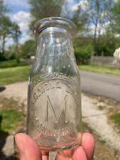 W.C. Moll Dairy N. Tonawanda, N.Y. Embossed 1/2 Pint