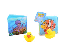 Baby Bath Book with Duck bath toys Imperméable Livre Flottant 1st Livre de bain