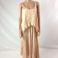 Stella McCartney Women Silk Dress Size 44 Blush Pink Solid Sleeveless Asymmetric
