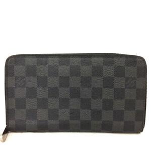 Louis Vuitton Damier Graphite Zippy Zip Around Organizer Long Wallet /E1090