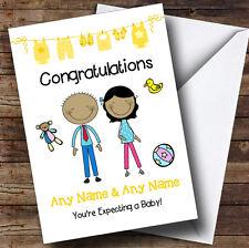 Asiatico mamma a essere congratulazioni aspettano un bambino personalizzata gravidanza CARD