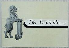 TRIUMPH RENOWN SALOON Car Sales Brochure 1953-54 #REP 7/53
