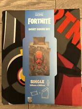 Primark FORTNITE Single Duvet Cover Set Bedding 1 Pillowcase Size 135 x 200cm