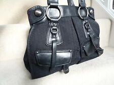 DKNY GENUINE BLACK LEATHER SHOULDER BAG HANDBAG TOTE BAG IN VERY GOOD CONDITION