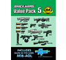 Brickarms Value Paquete de 5 - para Lego Bnip