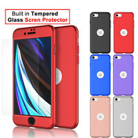 For iPhone SE 2020,11,Pro,Xs Max,Xr,6,6S,7,8 Plus 360°Case with Screen Protector