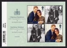 2018 ROYAL WEDDING HARRY + MEGHAN Mint Stamp MINI SHEET with Barcode