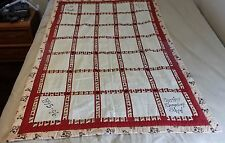 Homemade Quilt 5th Grade Cerritos Elementary School Project 1996 Signed
