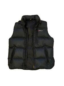 Ralph Lauren RLX Black Puffer Down Vest Medium