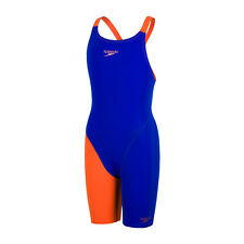 Speedo Fastskin Endurance+ Openback Girls' Kneeskin Blue Orange