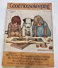 GOOD HOUSEKEEPING Oct 1930 Jessie Willcox Smith Cover Mary Roberts Rinehart