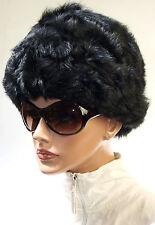 Bonnet Fourrure Chapeau Femmes Fourrure Peau de Mouton Vintage VEB Hutfabrik DDR