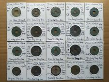 Lot of 20 ancient cast coins of various sizes from China and Vietnam